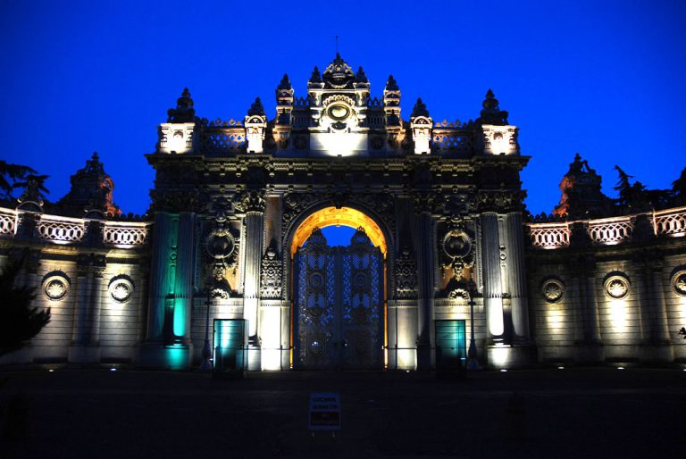 Dolmabahce palace gate istanbul
